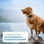 Dernier modèle Tractive traceur GPS chien - Collier GPS pour chien avec suivi d'activité - léger et étanche avec porté...